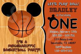 Invitacion De Cumpleanos De Mickey Mouse Baloncesto Mm02 Etsy
