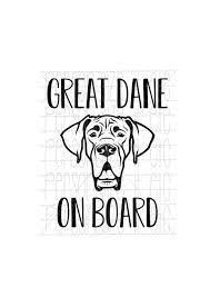 Great Dane Car Decal Stickers Google Search Great Dane Dane Car Decals Stickers
