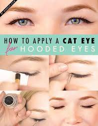 how to apply a cat eye depending on