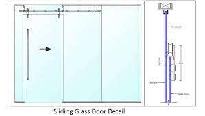 sliding glass door detail autocad dwg
