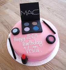 mac makeup birthday cake the cakery