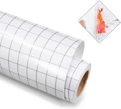 Amazon Com Clear Vinyl Transfer Paper Tape Roll 12 X 6 Ft Gray Grid Application Tape For Silhouette Cameo Cricut Adhesive Vinyl For Decals Signs Windows Stickers Kitchen Dining