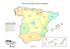 """Resultado de imagen de mapa de suicidios en españa 2018"""""""