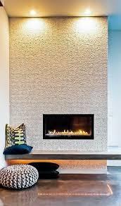 modern built in fireplace