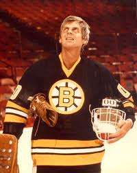 George Plimpton, goalie for a day with the Boston Bruins. #hockey ...