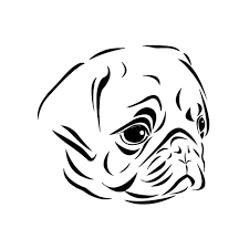 Heart Beat Line Dog Pug Dutch Bulldog Mops Adoption Rescue Love Car Vinyl Decal