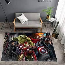 Rugs Home Kitchen Rug Living Room Carpet Marvel Captain Avengers Alliance Cartoon Modern Creative Bedroom Childrens Room Anti Slip Floor Mat Home Decoration 80cm X 120cm