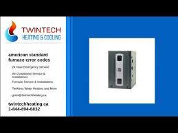 american standard furnace error codes