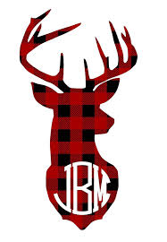 Amazon Com Red Buffalo Plaid Deer Antlers Monogram Decal Sticker For Laptop Car Yeti Rtic Ozark Tumbler Or Cup Handmade