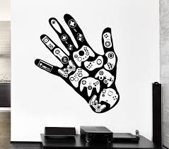 Gamer Wall Decal Video Game Play Room Boys Vinyl Stickers Art Mural Ig2531 Wall Stickers Gaming Vinyl Wall Decals Boys Room Vinyl Wall Stickers