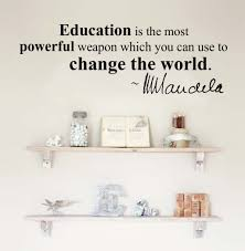 kids wall decal stickers quotes education change the world n