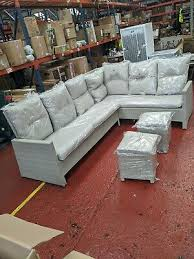 in stock rattan garden furniture grey
