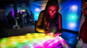 Student and lighting artist Ann Johnson combines creativity with technology  | UMSL Daily