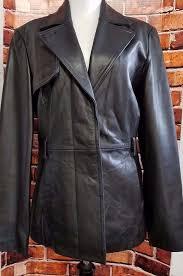 womens sz s worthington leather jacket