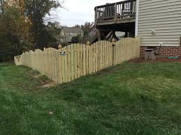Arch Space Picket Fence With Decorative French Gothic Posts Outdoor Decor Wood Fence Outdoor Structures