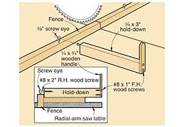 Hold Down Works For Radial Arm Saw Wood Magazine