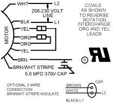 4 wire condensing fan motor connection