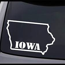 Amazon Com 2x Iowa State Map Ia Home State Outline Vinyl Decal Sticker 12 X 7 6 Everything Else