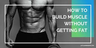 how to build muscle without getting fat