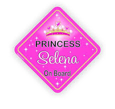 Personalised Baby On Board Car Sign Vinyl Decal Pink Princess Safety Signs Selena Or Other Name On It Buy Online In Bermuda Kasefazem Car Stickers Products