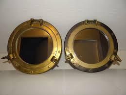 porthole mirror 2 copper glass