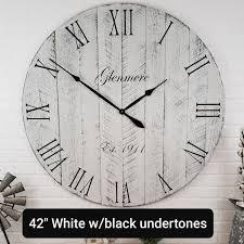 rustic wall clocks up to 42in diameter