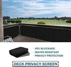 Amazon Com Coarbor Privacy Fence Screen Mesh For Balcony Porch Verandah Deck Terrace Patio Backyard Railing 160gsm Up To 90 Blockage 3 X182 Black Garden Outdoor