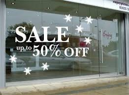 Sale Sign Shop Retail Window Decal Sticker Shop Window Signs Removable Ebay