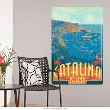 Catalina Island California Wall Decal At Retro Planet