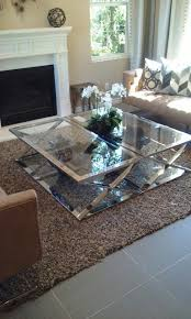 matching coffee tables pushed together