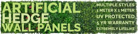 Artificial 1m X 1m Uv Stabilised Hedge Plant Wall Panels Vertical Gardens Direct