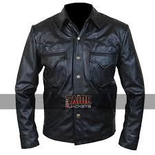 black designer real leather jacket