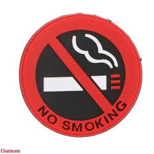 No Smoking Sign Tips Warning Logo Stickers Car Taxi Door Decal Badge Glue Sticker Garnabdeahdera44