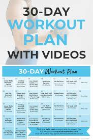 free 30 day home workout plan nourish