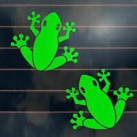 Green Tree Frog Small Animal Car Stickers Decal Boat Caravan Laptop Stl112b