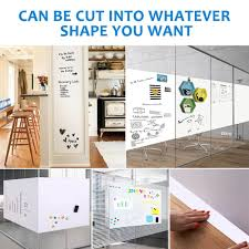 Self Adhesive Magnetic Dry Erase Whiteboard Wall Stickers 48x36 Inches Officetopify