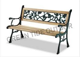 cast iron wooden flower park bench