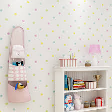 Mega Deal 4cef8 2020 New Colorful Dots Wallpaper Kids Rooms Wall Stickers Baby Bedroom Wallpapers Self Adhesive Children Room Wall Paper Zp112 Cicig Co
