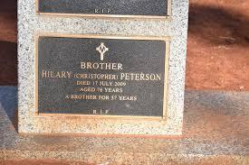 Christopher Joseph (Br. Hilary) Peterson (1933-2009) - Find A Grave Memorial