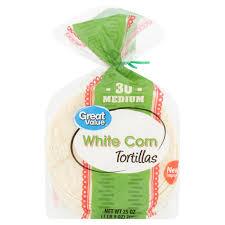 great value um white corn tortillas