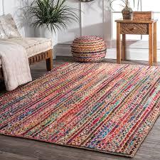 braided multicolor area rug