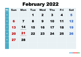 Printable 2022 Calendar with Holidays ...