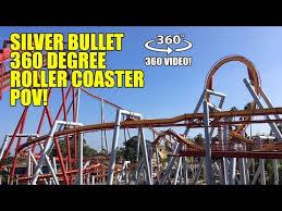 silver bullet roller coaster 360 degree