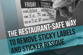 remove sticky labels sticker residue
