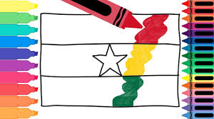 How to Draw Ghana Flag - Drawing the ...