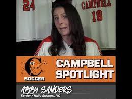 Campbell Spotlight - Abby Sanders | Women's Soccer - YouTube