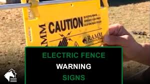 Electric Fence Warning Signs 3 Pack Ramm Horse Fencing Stalls