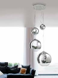 silver glass ball hanging pendant 4