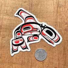Tlingit Killer Whale Laptop Vinyl Sticker Nick Alan Art