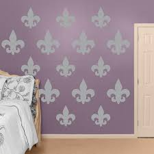 Grey Fleur De Lis Collection Realbig Wall Decal